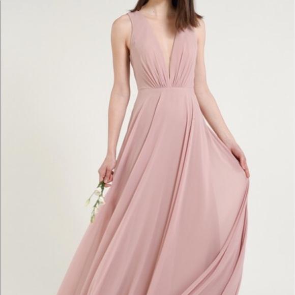 f98418820c3 Jenny Yoo Dresses   Skirts - 🌹Jenny Yoo Ryan Illusion Neck Chiffon Gown Sz  10